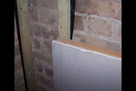 Cladding the interior with insulated plasterboard had relatively little impact on the large room sizes